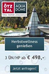 Herbstwellness im Aqua Dome Therme Längenfeld